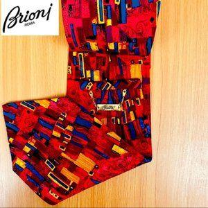 Brioni silk necktie abstract colorful tie
